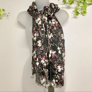 All Saints floral scarf